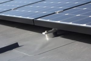 solar panels with rubber underlayment